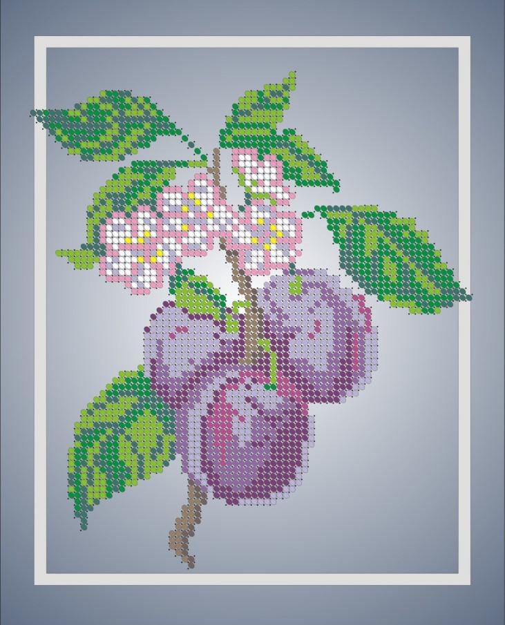 Схема для вишивки та вишивання бісером Бисерок «Гілочка сливи» (A4) 20x25 (ЧВ-3025)