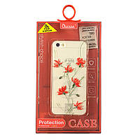 Чехол силиконовый Ou Case Aspor Цветы красные для iPhone SE