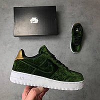 "Женские кроссовки Nike Air Force 1 ""Plush Velvet Green"" (Реплика ААА+)"