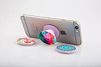 Универсальный держатель-подставка для телефона PopSockets (Ноу-хау крепление на крышку смартфонаПопСокетс)С100