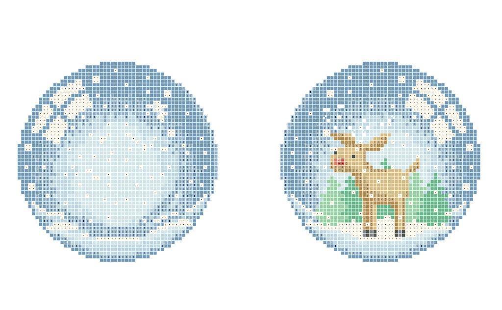 Схема для вишивки та вишивання бісером Бисерок «Новорічна іграшка №3» (A4) 20x25 (ЧВ-3503 (10))