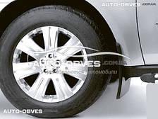 Брызговики оригинальные для Mercedes-Benz GL 164 2006-2011 без порогов  передние, кт. 2 шт