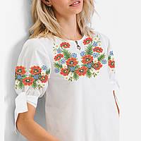 Заготовка вишиванки жіночої сорочки та блузи для вишивки бісером Бисерок « Польовий Букет» (Б b37ae6bd912c1