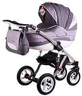 Детская коляска универсальная Aspena Grand Collection Adamex, Grey-White