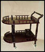 Деревянный столик на калесиках F98-01