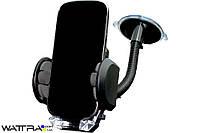 Держатель телефона 45-90 * 70mm / механическая присоска / гибкая ножка 250mm AUTO WELLE AW15-12