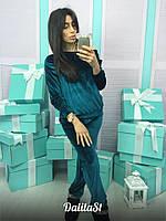 Женский велюровый костюм tez1610479