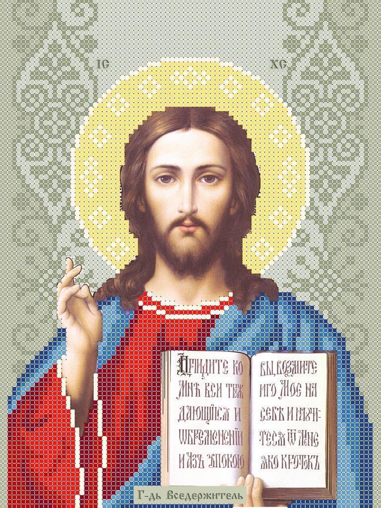 Схема для вишивки та вишивання бісером Бисерок ікони «Ісус 3446» (A4) 20x25 (ЧВ-3446 (10))