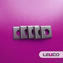 Сменные поворотные твердосплавные ножи (пластины) Leuco с 4 режущими кромками и зенковкой 14х14х2, фото 2