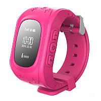 Детские умные GPS часы Smart Baby Watch Q50 с трекером отслеживания розовые. РУССКАЯ ВЕРСИЯ