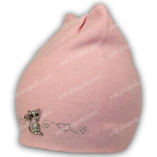 шапка кішка для дівчинки