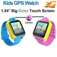 Детские умные GPS часы Smart Baby Watch Q10 G75 с трекером 3G отслеживания и камерой цветной экран синие