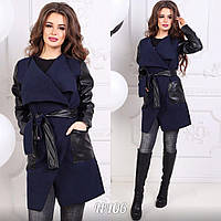 Пальто женское , Кашемир+ кожа ,много расцветок, фото реал ,супер качество ац №5699, фото 1