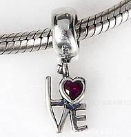 Шарм бусина Pandora Пандора Подвеска Love, фото 1