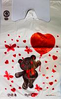 """Пакет полиэтиленовый Майка  """" Мишка"""", Упаковка: 250 шт, Ширина: 29 см, Высота: 47 см"""