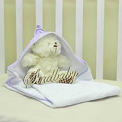 Детское махровое полотенце с уголком - 03