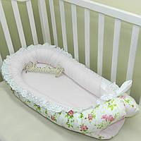 Гнездышко кокон позиционер для новорожденного BabyNest - 01