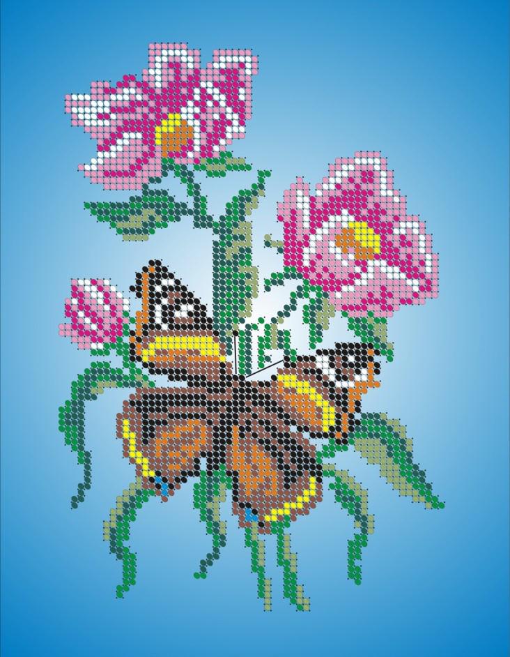 Схема для вишивки та вишивання бісером Бисерок «Шоколадниця» (A4) 20x25 (ЧВ-3003)