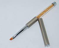 Кисть для рисования косая со складной ручкой.