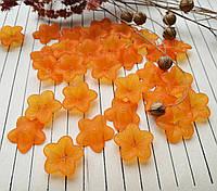 Бусина оранжевый цветок, 17 мм, 20 г/упаковка