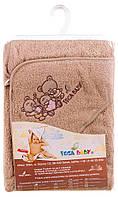 Детское полотенце-уголок для купания 621156 Tega, 80х80 см капучино