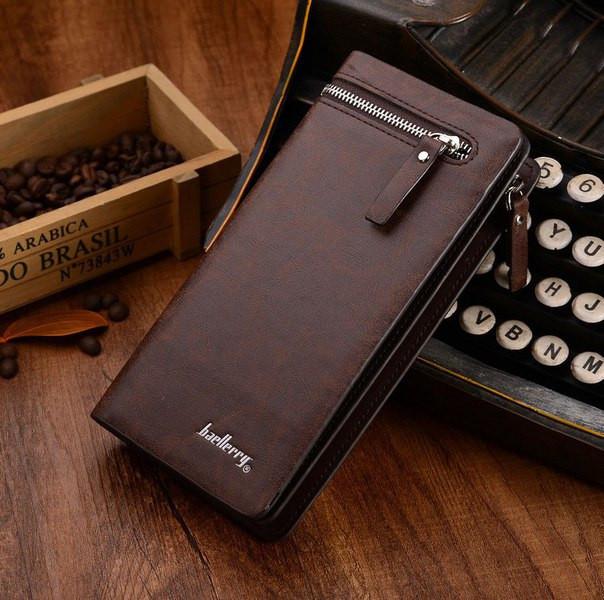 90cad2b8765c Мужской клатч портмоне Baellerry Italia (коричневый) - интернет-магазин