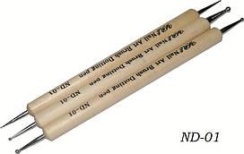 Набор дотсов 3шт с деревянной ручкой.