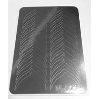 Металлизированные наклейки для фигурного френча CANNI серебро М-001