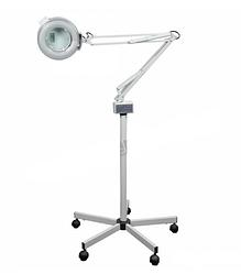 Лампа лупа на штативе М-2021 на 3 и 5 диоптрий для наращивания ресниц, для косметолога, для медработника