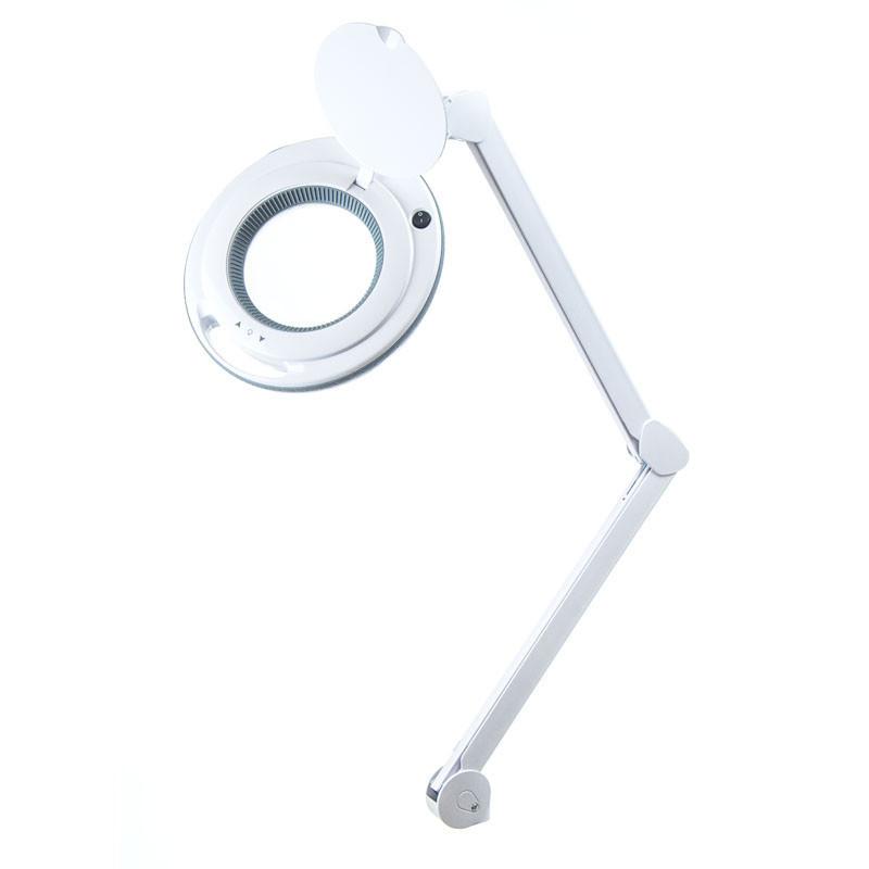 Лампа-лупа 6017 Led настольная (3 диоптрии) С РЕГУЛИРОВКОЙ ЯРКОСТИ для наращивания ресниц