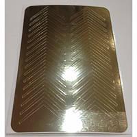 Металлизированные наклейки для фигурного френча CANNI золото М-002
