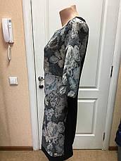Платье женское офисное Coconuda жаккардовое с принтом длинный рукав, фото 3