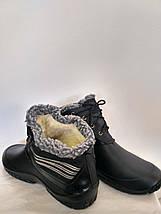 Ботинки ЭВА (пена) GS мужские утепленные (мех) черные, фото 2