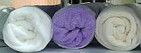 Махровый чехол на стол или кушетку, цвет белый/бежевый/фиолетовый