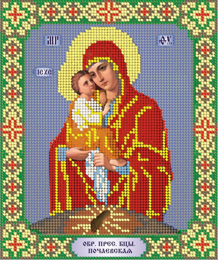 Схема для вишивки та вишивання бісером Бисерок «Почаївська» (A4) 20x25 (ЧВ-3029)