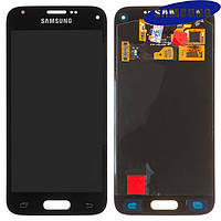 Дисплейный модуль (дисплей + сенсор) для Samsung G800H Galaxy S5 mini, черный, оригинал