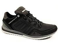 Мужские кроссовки Adidas A7 чёрные, осень-весна, натуральная кожа
