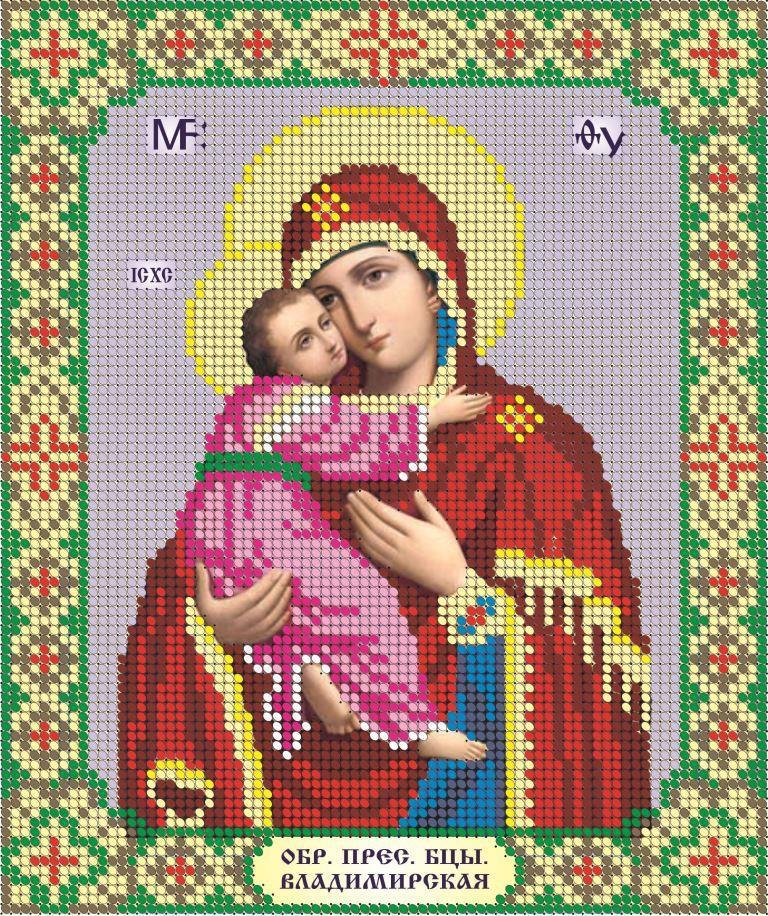 Схема для вишивки та вишивання бісером Бисерок ікона «МБ Владимирская» (A4) 20x25 (ЧВ-3043)