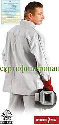 Куртка рабочая кожаная для сварщика REIS KSB JS