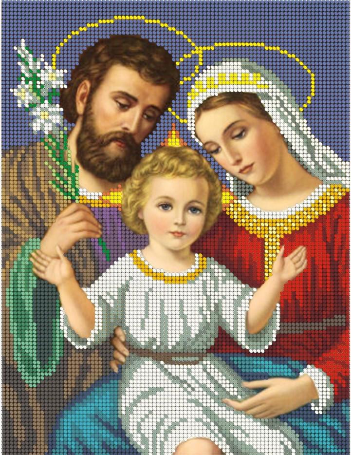 Схема для вишивки та вишивання бісером Бисерок «Святое Семейство (ЧВ-3039-1» (A4) 20x25 (ЧВ-3039-1)