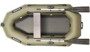 Лодка BARK B-220D, Одноместная Надувная ПВХ Гребная Резиновая Барк Б-220Д, Без коврика, Передвижное сиденье, фото 2