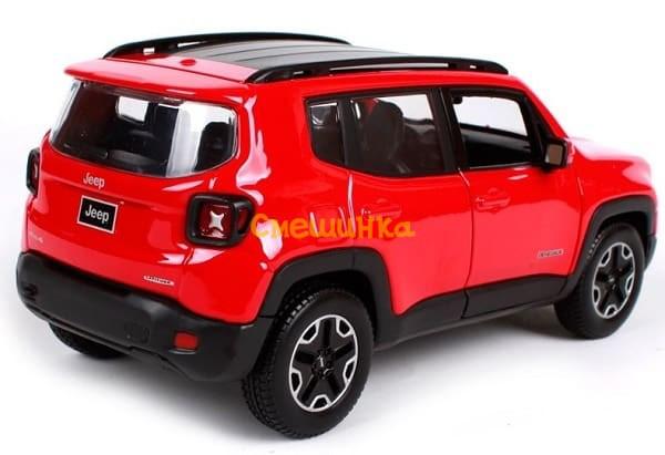 Автомодель (1:24) Jeep Renegade красный металлик