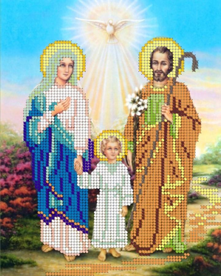 Схема для вишивки та вишивання бісером Бисерок «Сімейство зі святим духом»  (A4) 42cbe9beb33c1