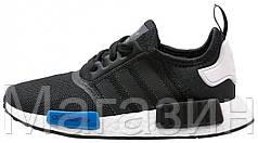 Мужские кроссовки Adidas NMD R1 Runner Tokyo Core Black/Blue Адидас НМД черные