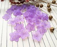 Бусина фиолетовый цветок, 17 мм, 20 г/упаковка