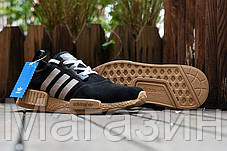 Мужские кроссовки Adidas NMD Suede Black Адидас НМД замшевые черные, фото 3