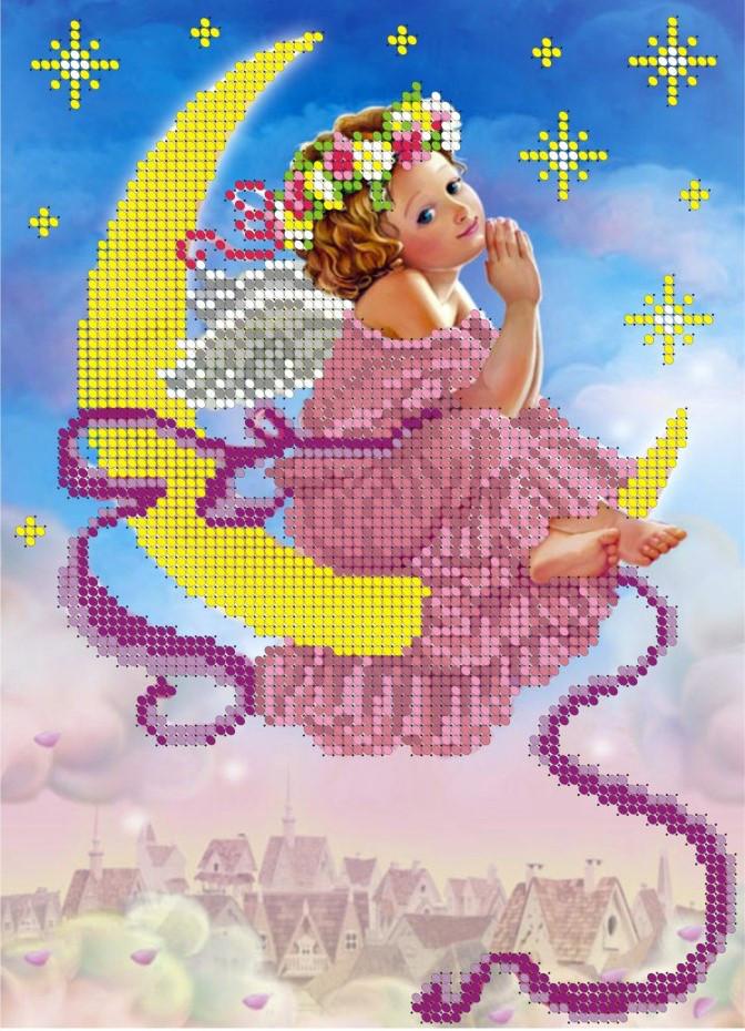 Схема для вишивки та вишивання бісером Бисерок «Рожеві мрії» (A4) 20x25 (ЧВ-3055)