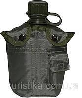 Пластиковая фляга 1л с чехлом, MFH 33213B