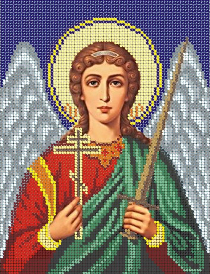 Схема для вишивки та вишивання бісером Бисерок «Ангел хранитель» (A4) 20x25 (ЧВ-3054)