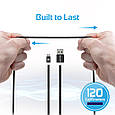 Кабель Promate linkMate-U2M USB-microUSB 1.2 м Black, фото 8